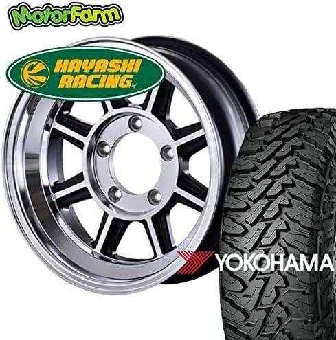 モーターファーム タイヤホイールセット ハヤシレーシング TYPE-STJ 16×5.5J/5H-25 ヨコハマ ジオランダー MT G003 225/75R16 (yokohama geolandar マッドテレイン)
