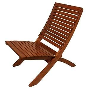 Amazon Com Arboria Folding Outdoor Wood Chair Eucalyptus