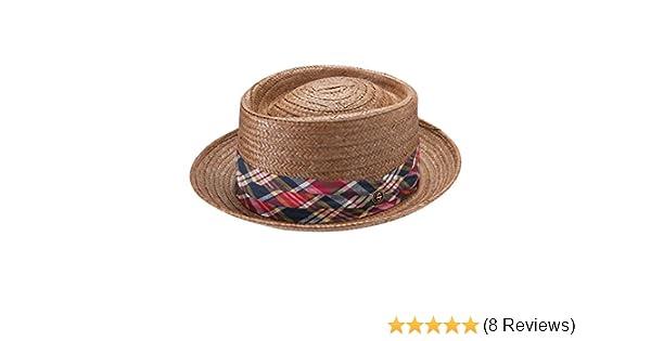 5c3fdecdf51ba8 Stetson Men's Madrigal Straw Pork Pie Hat at Amazon Men's Clothing store: