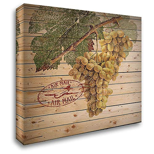 Grape Crate II 28x28 Gallery Wrapped Stretched Canvas Art by Nobleworks -