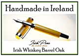 Irish whiskey barrel Oak Shannon fountain pen handmade in Cavan Ireland