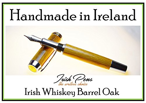 Irish whiskey barrel Oak Shannon fountain pen handmade in Cavan Ireland by Irish Pens