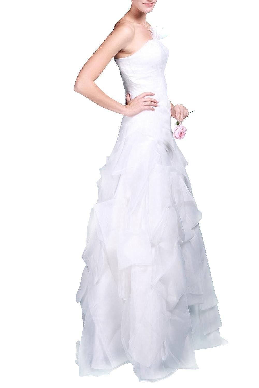 mittydresses a-line para vestido de novia de organza de color blanco de Bohemia Boho vestido de novia vestidos de novia de boda tamaño 14 US océano azul: ...