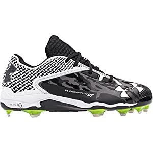 Under Armour Men's UA Deception Low DT Blk/WHT Baseball Cleat 12 Men US