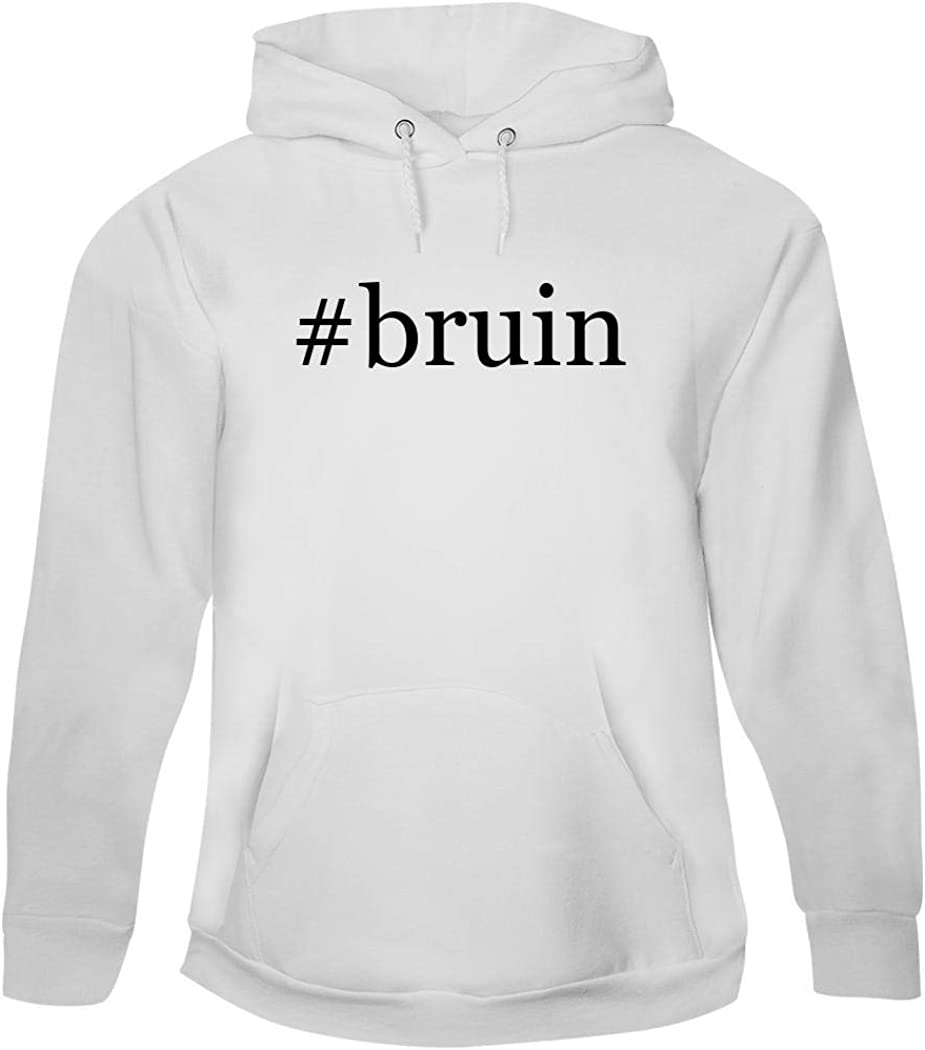 #bruin - Men's Hashtag Pullover Hoodie Sweatshirt, White, Medium