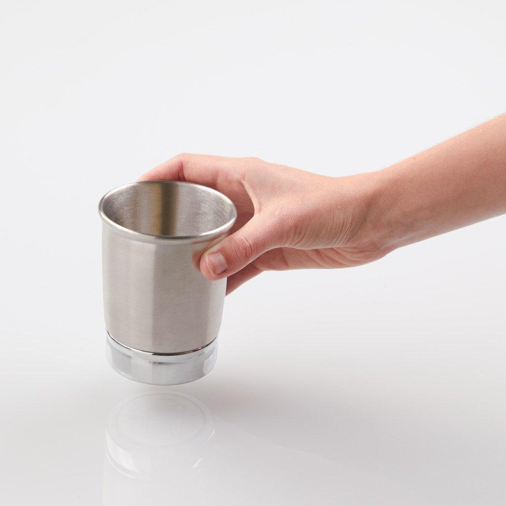 InterDesign York Tumbler Cup for Bathroom Vanity Countertops, Split Finish by InterDesign