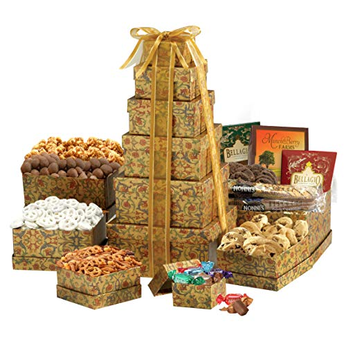 Ultimate Gift Tower - Broadway Basketeers The Ultimate Sympathy Gourmet Gift Tower