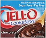 Jell-O Sugar-Free Chocolate Cook & Serve Pudding Mix 1.3 Ounce Box (Pack of 6)