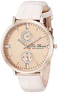 """Ted Baker Women's TE2104 """"Smart"""" Rose Gold Leather Band Watch"""