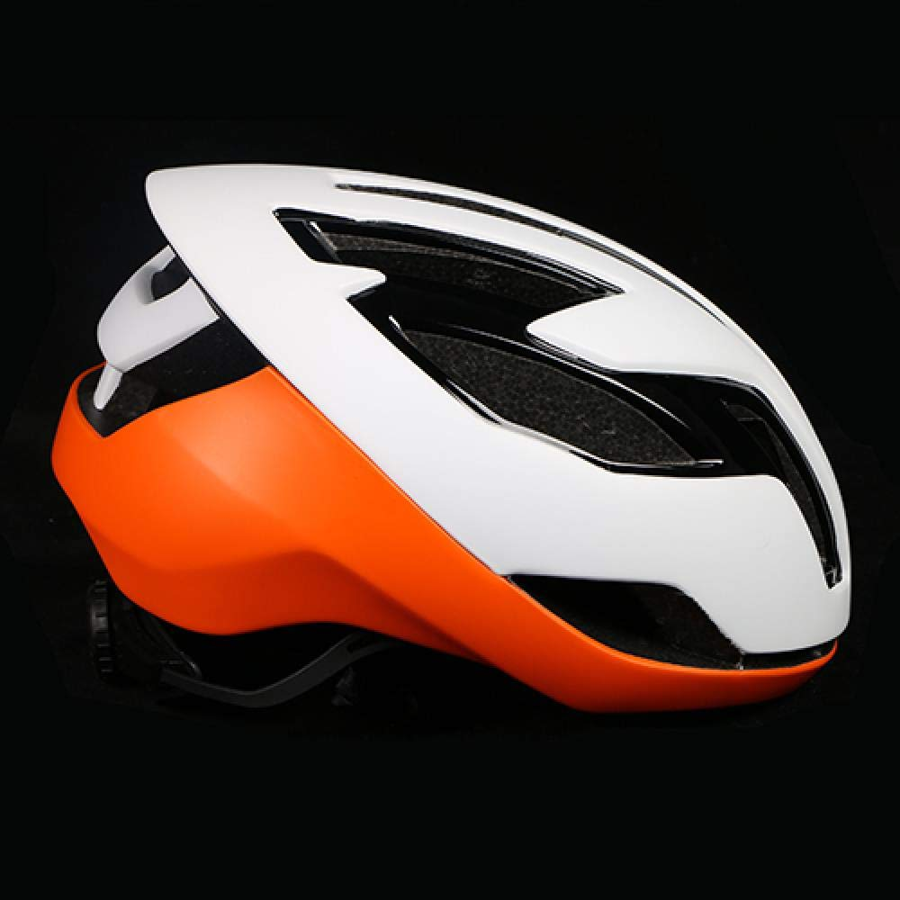 Weiß Orange LIUDATOU Ultraleichter Fahrradhelm Rennrad Eps Dämpfer Schutz MTB Mountainbike Helm Aero Bike Helm