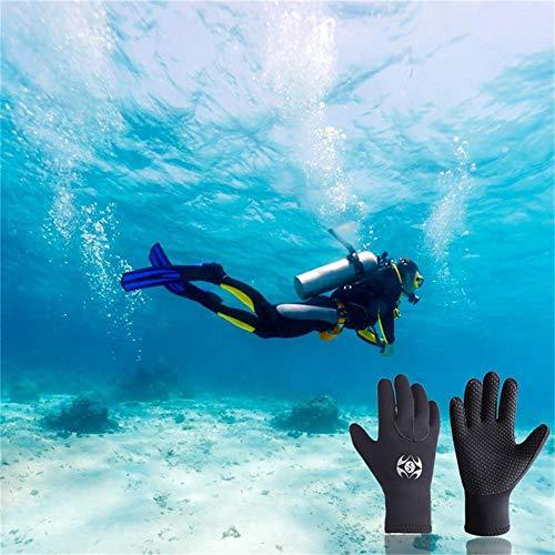 LLDHWX 3MM Guantes de Neopreno para Buceo, Cinco Guantes para Traje de Neopreno, Antideslizantes Guantes de Material térmico para Snorkeling Natación ...