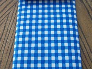 Blue And White Checkered 52 X 70 Inch Vinyl Tablecloth