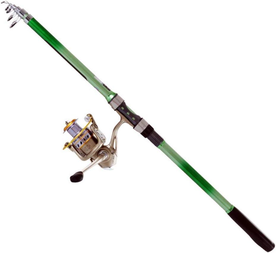 FELICIAAA 屋外フライフィッシングポール - 2.1 / 2.7 / 3.0 / 3.6 MグラスファイバーとコルクのロッドとAmbidextrousリールコンボ (色 : Rod with Reel, サイズ : 2.4M) Rod with Reel 2.4M