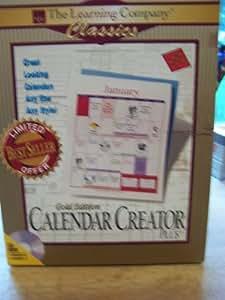 Calendar Creator Plus, Gold Edition
