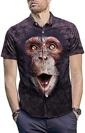 Camisas de vestir para hombre Para hombre de dibujos animados 3D Animal Print Verano Camisas Bajar