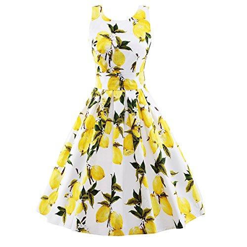 Luouse - Vestido - para mujer Print-white