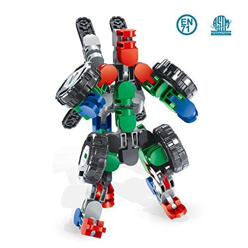 Blocks Building 58 pcs DIY Puzzle Block Transformm Assembled into robots and racing car Chrismas Gift Deformation Series of Toys for Preschool Kids
