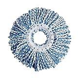 Spin Mop Refills Head Replacement Mop Head Refill Universal 360° Spin Magic Mop (Blue)