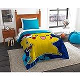 Pokémon Pikachu Yellow & Blue Comforter (Full)