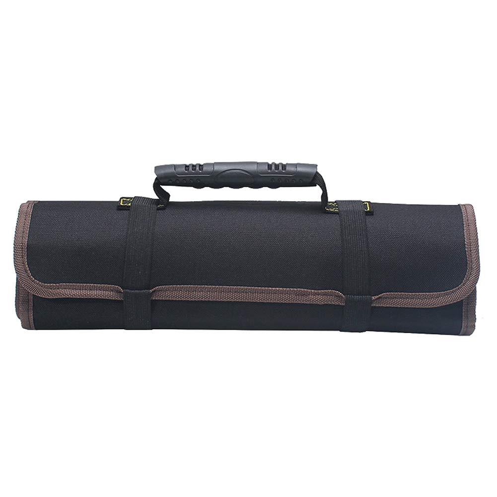 Noir Toruiwa Trousse /à Outils Sacoche Enroulable Id/éal pour Rangement Les Outils(Accessoires M/écanique Non Inclus )