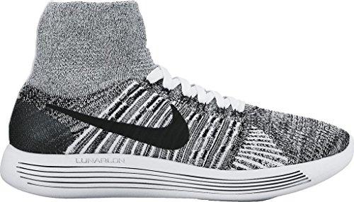 NIKE Women's Lunarepic Flyknit Running Shoes White/Black