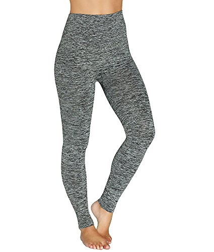 ASSETS Red Hot Label by SPANX Marled Shaping Leggings, M, Very Black (Red Hot Label By Spanx High Waisted Leggings)