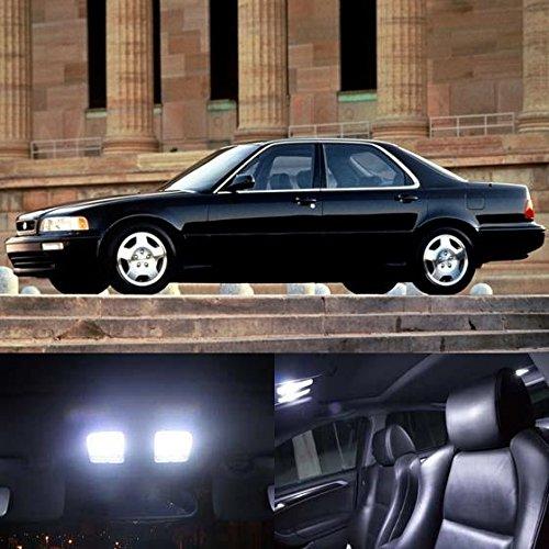 [Partsam 1991-1995 Acura Legend Sedan Interior White LED Lights Package (16 Pieces)] (Acura Legend Lights)