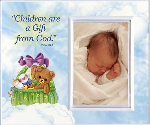 Children are a Gift from God (basket) - Baby Picture Frame Gift ()