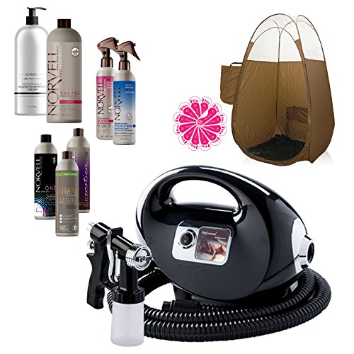 n Machine System with Norvell Airbrush Tanning Solution Sunless Pro Kit Bundle and Bronze Pop Up Tent ()