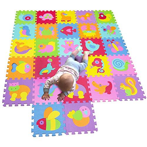 MQIAOHAM Children Puzzle mat Play mat Squares Play mat Tiles Baby mats for Floor Puzzle mat Soft Play mats Girl playmat Carpet Interlocking Foam Floor mats for Baby P010014019G300927