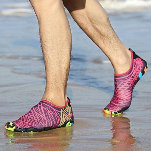 Plongée Tuba Sport Chaussettes Rose Surf Barefoot Plage Outdoor Yoga De Avec Extérieur Chaussures Homme Vif Smileq Eau Femme Swim x7vTaBqTz