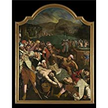 Oil painting 'The Martyrdom of Saint Crispin and Saint Crispinian by Ambrosius Francken I' printing on high quality polyster Canvas , 18x23 inch / 46x58 cm ,the best Hallway artwork and Home artwork and Gifts is this Amazing Art Decorative Prints on Canvas