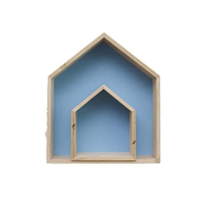 Mumuj Decoración navideña, Madera House Shelf Display Units Unique ...