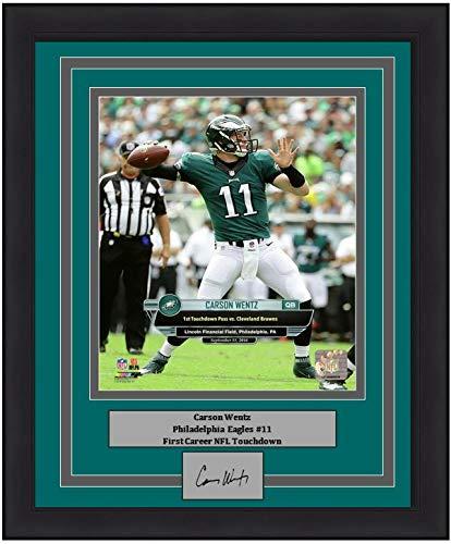 big sale 3c4d7 ea0bd Amazon.com: Eagles Carson Wentz First Career Touchdown 8