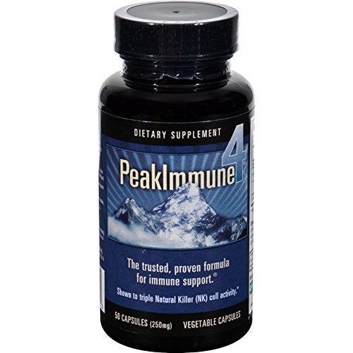 Daiwa Health Development, Peak Immune 4, 250 mg, 50 Veggie Caps - 3PC by Daiwa Health Development