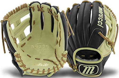 - Marucci MFGRS1125SP-BK/MS-RG RS225 Series Baseball Fielding Gloves, Black/Mesa, 11.25