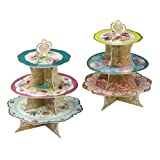 Talking Tables Truly Scrumptious Floral Cakestand (3 Tier) for a Tea Party, Wedding or Birthday, Multicolored(TS3-CAKESTAND)