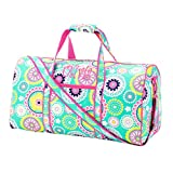 21 Inch Shoulder Strap Overnight Carry On Duffel Bag - Piper Paisley