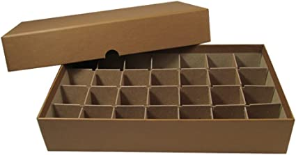 Holds 28 Tubes Brown Half Dollar Roll Boxes Holds 28 Rolls of Half Dollars