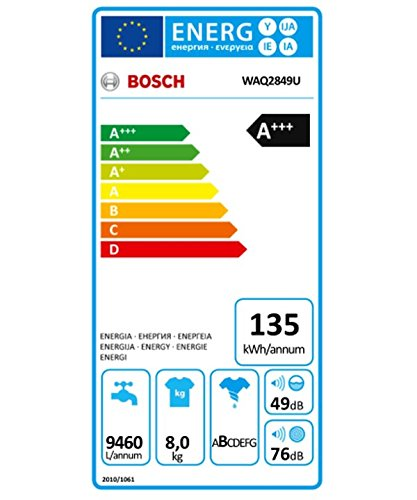 Bosch Waschmaschine WAQ2849U 8kg 1400U Min Frontlader Energieeffizienzklasse A Amazonde Elektro Grossgerate