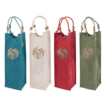 Amazon.com: Bolsas de regalo para botellas de vino, surtidas ...