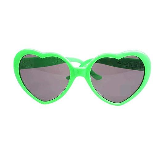 66e7779fd Fashion Large Women Lady Girl Oversized Heart Shaped Retro Sunglasses Cute Love  Eyewear (Green)