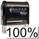 MaxStamp - Self-Inking 100% Stamp (Black Ink)