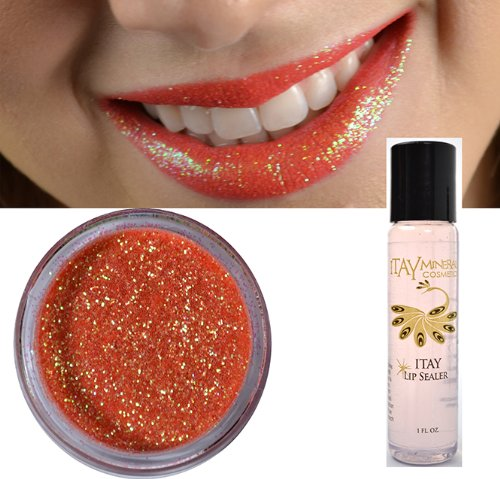 Itay Mineral Cosmetics Glitter Powder Lips Eye Shadow Coral