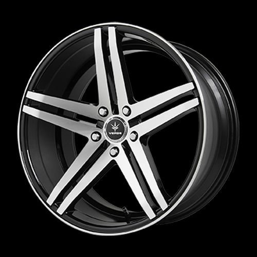 Verde Car Rims - Verde Custom Wheels Parallax Gloss Black Wheel with Machined Spokes (19x8.5