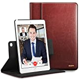 ESR iPad Air 2 Case - Premium Leather Business Multi-Functional Folio Stand Case Cover 360 Degree Rotating Hand Strap Pencil Holder Organizer Pocket Smart Auto Wake & Sleep for Apple iPad Air 2 (Brown)