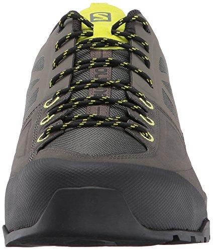 Salomon X Alp Spry, Stivali da Escursionismo Uomo Grigio (Castor Gray/Beluga/Lime Punch. 000)