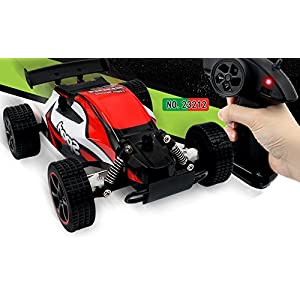 1/20 Scale 2WD RC Car, 2.4GHZ Radio Remote Control Off Road RC RTR Racing Car Truck, High Speed Waterproof Electronics Monster for Kids Adults (Red)