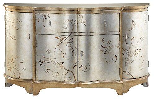 Stein World Furniture Celeste Credenza, Silver, Gold