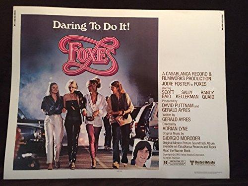 - Original 1980 FOXES Half Sheet Movie Poster 22 x 28 Jodie Foster Scott Baio